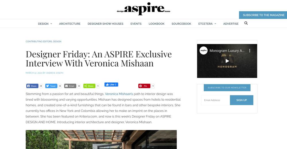 Aspire, Veronica Mishaan