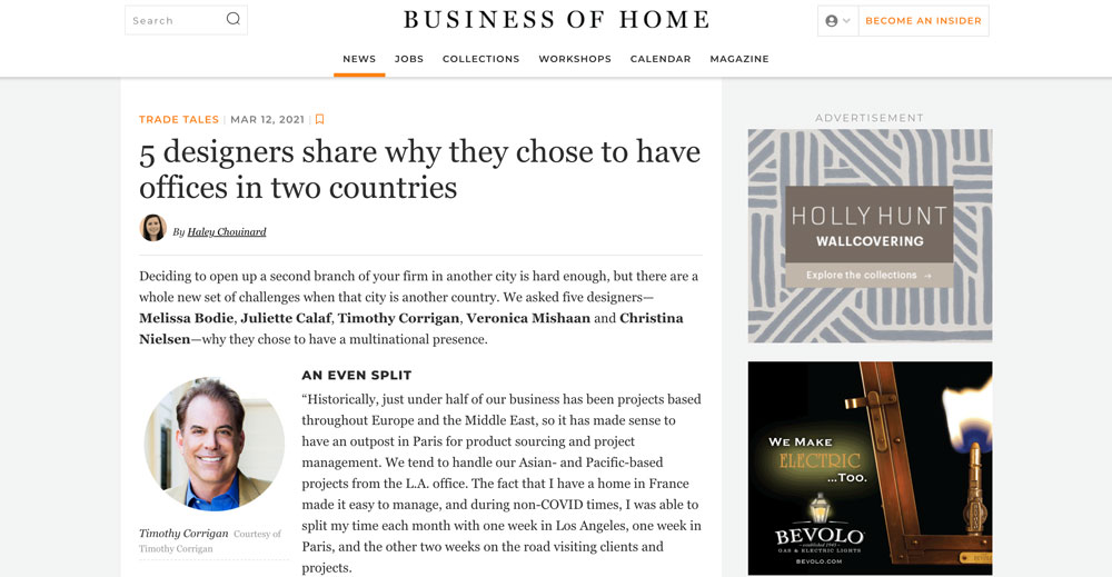 Business Of Home, Veronica Mishaan